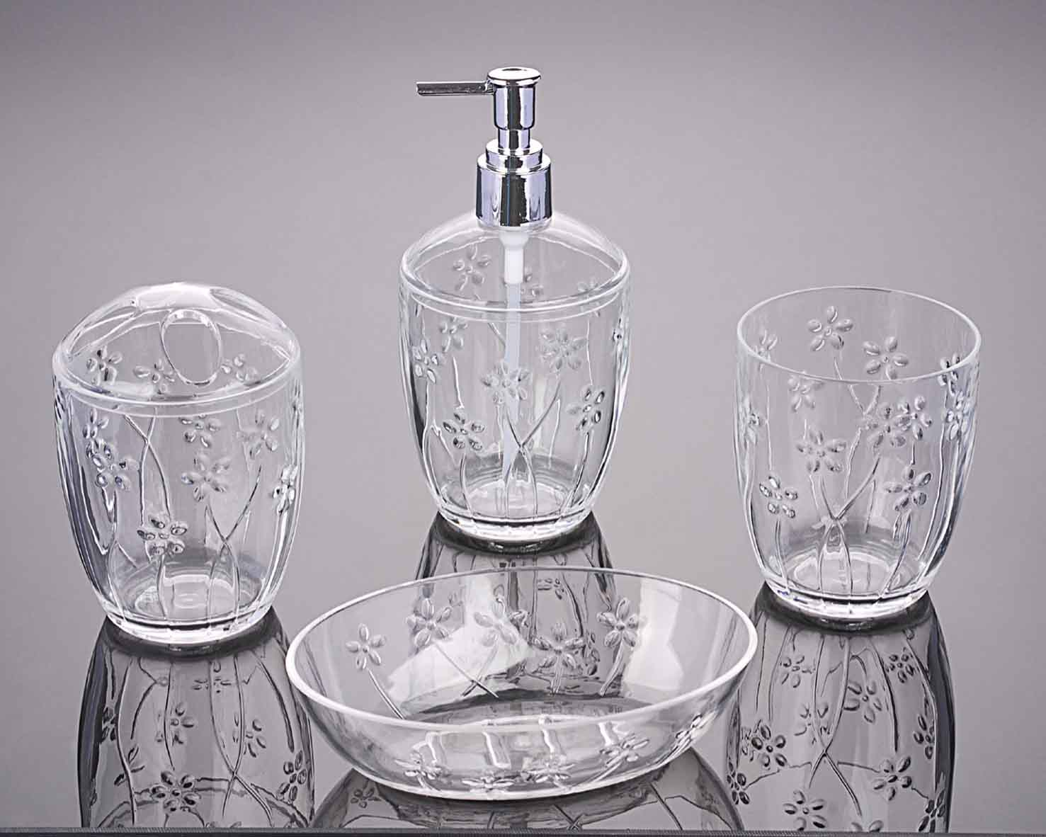 bathroom sets 2735-S4-clear